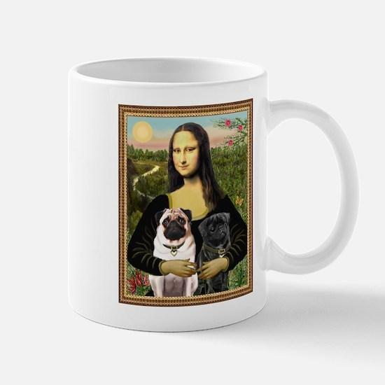 TR-Mona-PUGpair-TF Mugs