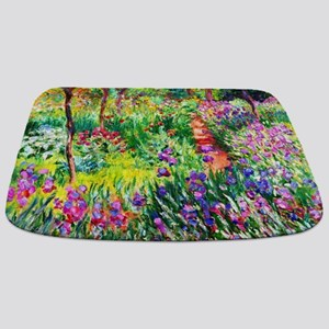 Iris Garden at Giverny Monet Bathmat