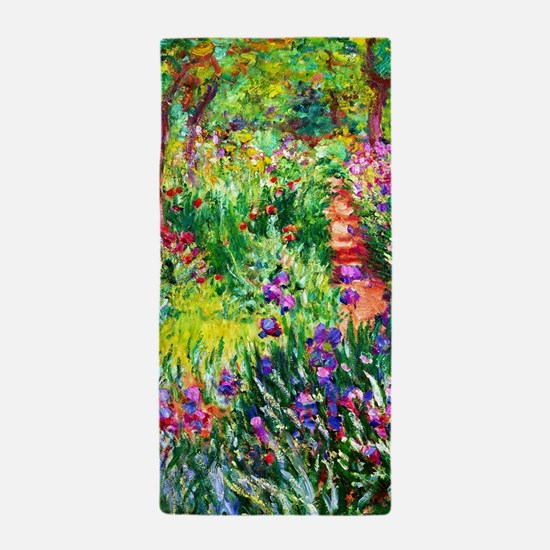 Iris Garden at Giverny Monet Beach Towel