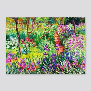 Iris Garden at Giverny Monet 5'x7'Area Rug