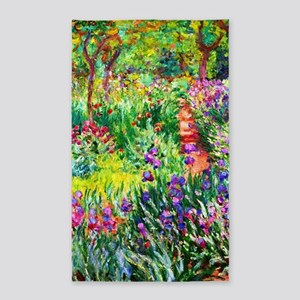 Iris Garden at Giverny Monet Area Rug