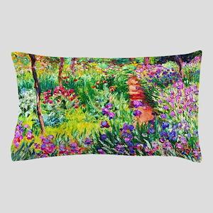 Iris Garden at Giverny Monet Pillow Case