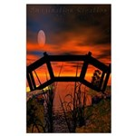 Fire Red Clouds Large Poster