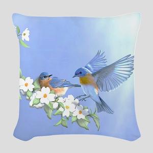 Bluebird Skies Woven Throw Pillow