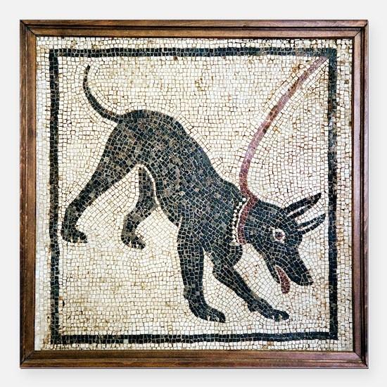 Roman guard dog mosaic - Square Car Magnet 3
