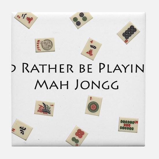 Cute Mahjong Tile Coaster