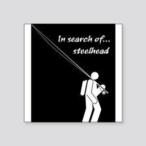 """""""In Search Of Steelhead"""" Rectangle Sticker"""