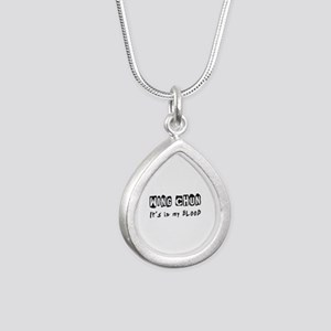 Wing Chun Martial Arts Silver Teardrop Necklace