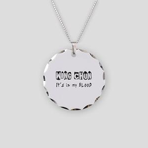 Wing Chun Martial Arts Necklace Circle Charm