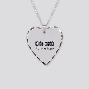 Wing Chun Martial Arts Necklace Heart Charm