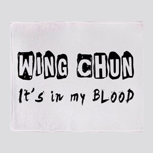 Wing Chun Martial Arts Throw Blanket