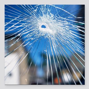 Broken glass - Square Car Magnet 3
