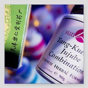 herbal remedies - Square Car Magnet 3