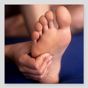 Reflexology massage - Square Car Magnet 3