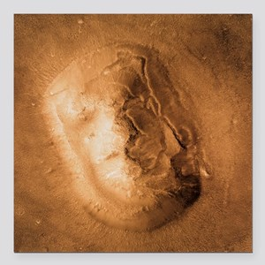 Face on Mars - Square Car Magnet 3