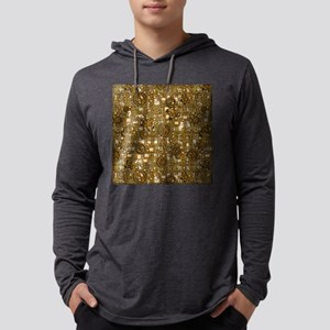 Steampunk Panel, Gears and Pipes Mens Hooded Shirt