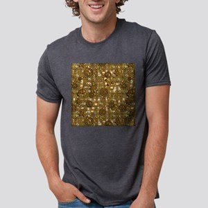 Steampunk Panel, Gears and Mens Tri-blend T-Shirt