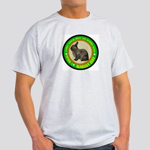 TAKE YOUR RABBIT TO WORK DAY Ash Grey T-Shirt