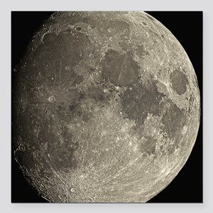 Waxing gibbous Moon - Square Car Magnet 3