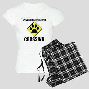 English Coonhound Crossing Pajamas