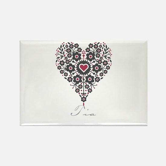 Love Tia Rectangle Magnet