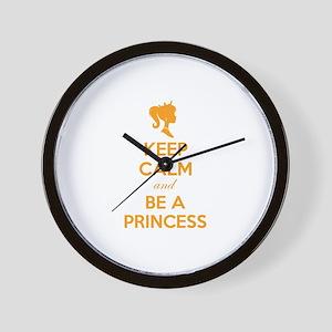 Keep calm and be a princess Wall Clock