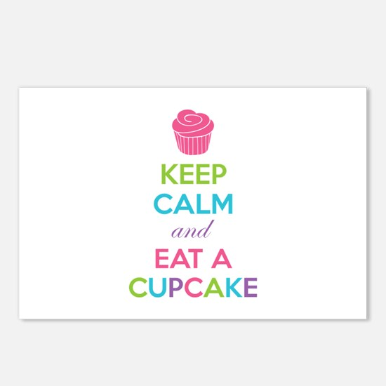 Keep calm and eat a cupcake Postcards (Package of