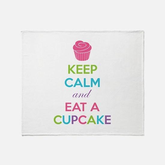 Keep calm and eat a cupcake Throw Blanket