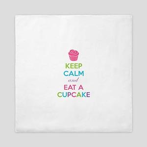 Keep calm and eat a cupcake Queen Duvet