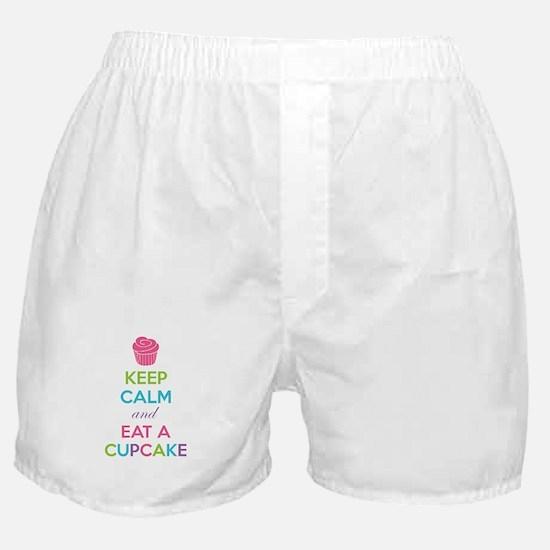 Keep calm and eat a cupcake Boxer Shorts