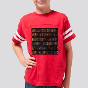 Old Bookshelves Youth Football Shirt