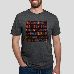 Old Bookshelves Mens Tri-blend T-Shirt