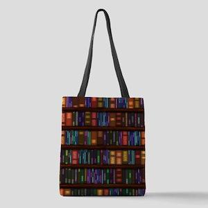 Old Bookshelves Polyester Tote Bag