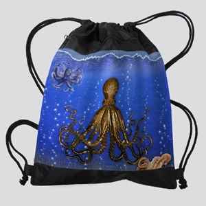 Octopus' Lair - colorful Drawstring Bag