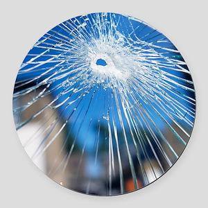 Broken glass - Round Car Magnet