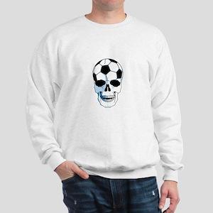 Hardcore Soccer Skull Sweatshirt