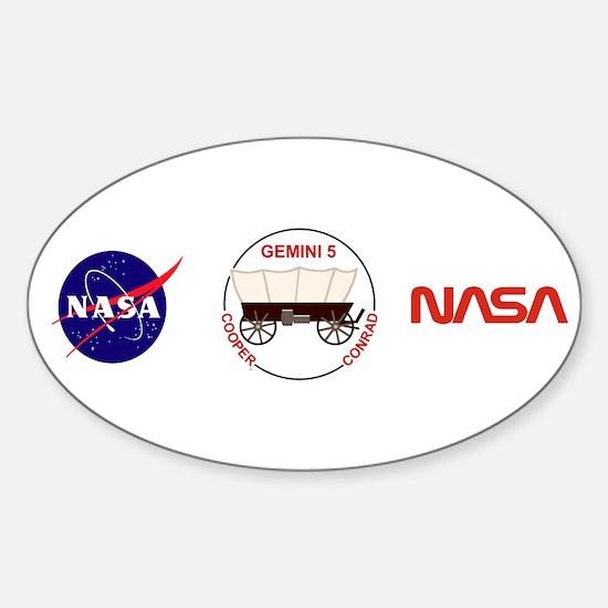 Gemini 5-Cooper/Conrad Sticker (Oval)