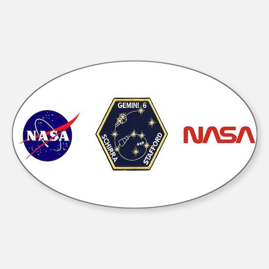 Gemini 6-Go Blue! Sticker (Oval)