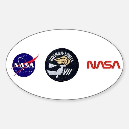 Gemini 7 Borman/Lovell Sticker (Oval)