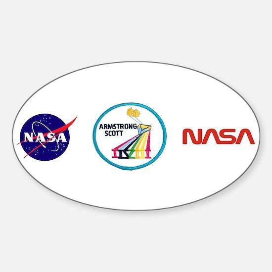 Gemini 8-Armstrong/Scott Sticker (Oval)
