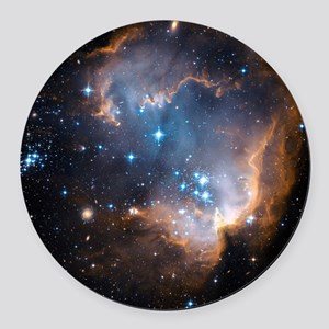 Starbirth region NGC 602 - Round Car Magnet