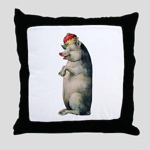 Pig King Throw Pillow