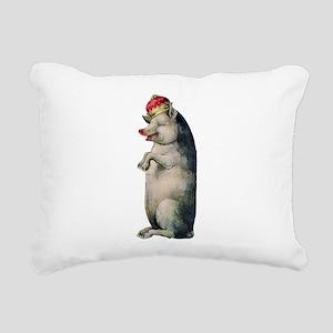Pig King Rectangular Canvas Pillow
