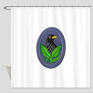 German Sniper Emblem Shower Curtain