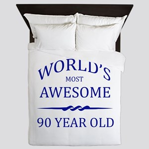 World's Most Awesome 90 Year Old Queen Duvet