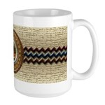 Aztec-ish Decor Large Mug
