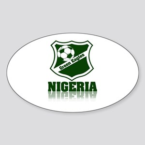 Retro Green Eagles Oval Sticker