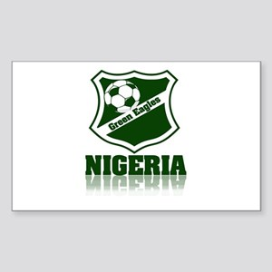 Retro Green Eagles Rectangle Sticker