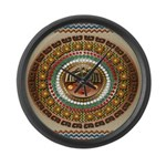 Aztec-ish Decor Large Wall Clock