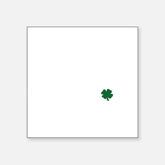 "Blarney Stoned White Square Sticker 3"" x 3"""
